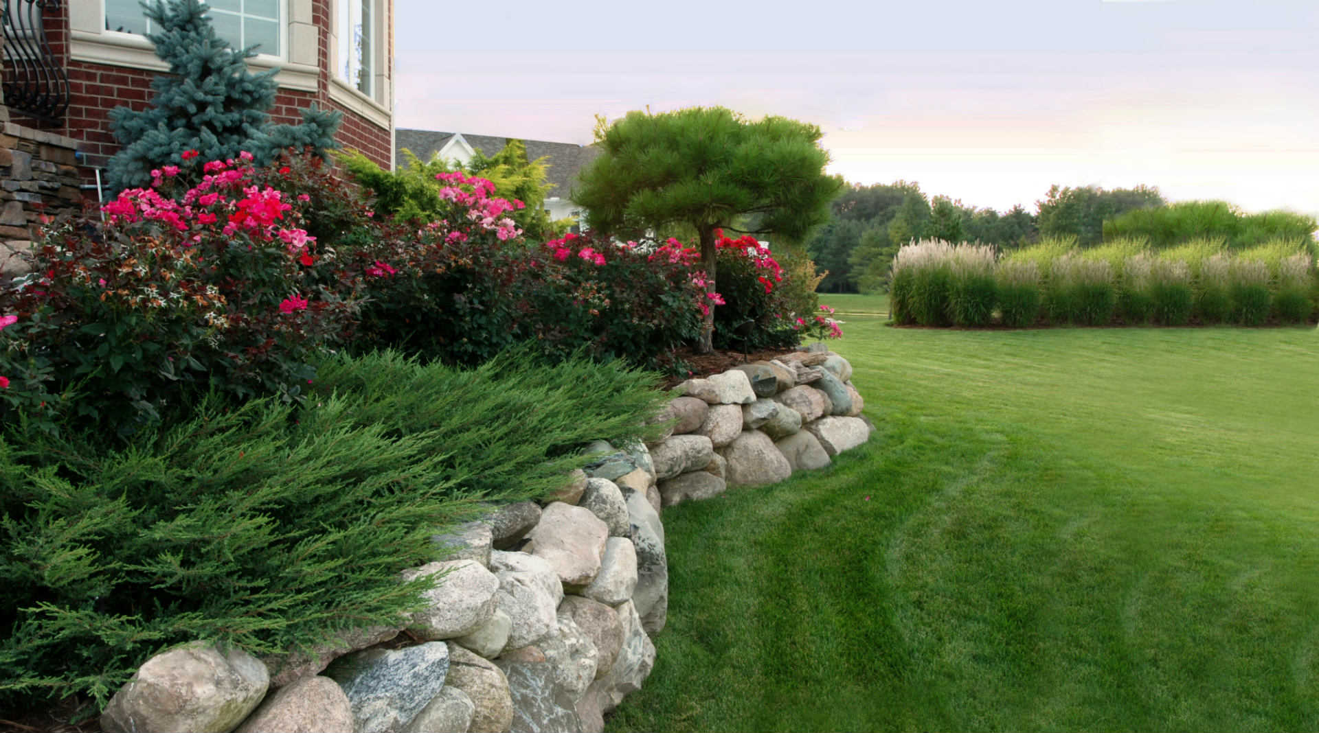 Edging sidewalks and driveway for Lawn and garden services